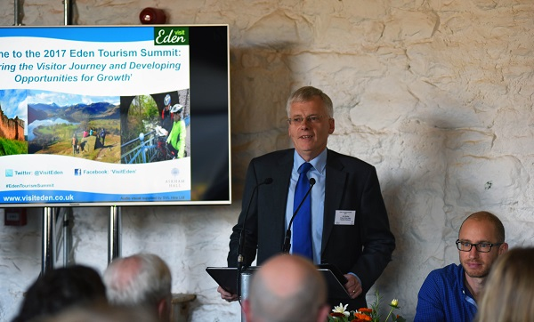 Jim Walker Chair of the Eden Tourism Network addressing last year's Tourism Summit