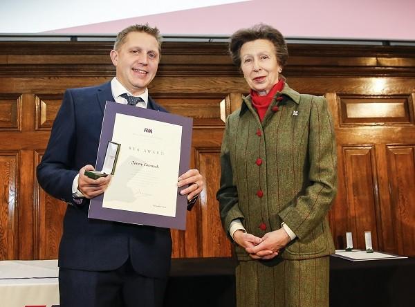 Jonny Cormack and HRH the Princess Royal