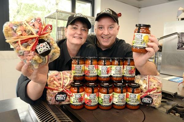 Food entrepreneurs Julian and Karen Abel, from Nowt Poncy