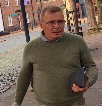 Krzysztof Kaminski leaving Carlisle Crown Court.