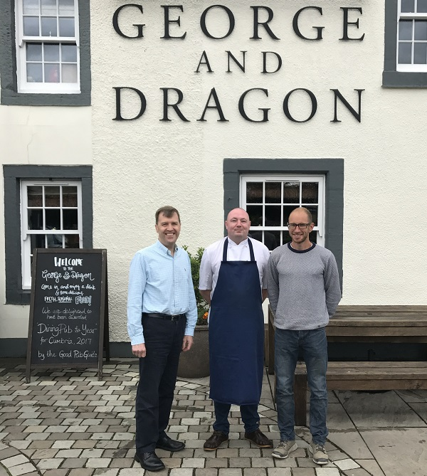 L-R: General Manager Chris Curry, Head Chef Gareth Webster and Owner Charles Lowther