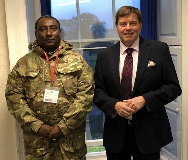 Lieutentant Colonel Ennis Grant - Turks and Caicos Island Army Cadet Force with Honary Colonel - Cumbria Army Cadet Force Peter Mcall