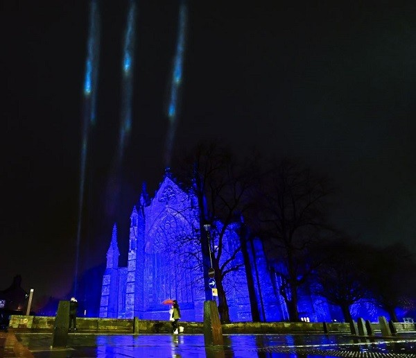 Carlisle Cathedral 'Light of Hope' by Stuart Walker courtesy of Discover Carlisle
