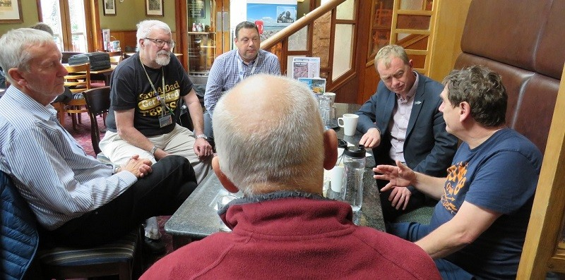 Tim Farron MP at The Bay Prostate Cancer Support Group meeting in Kendal