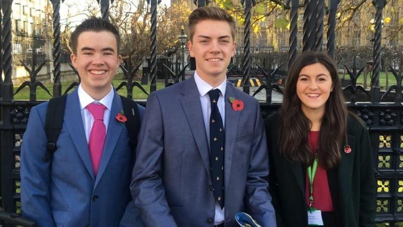 L-R: Jacob Reid, Matthew Suddart and Lucia Harrington