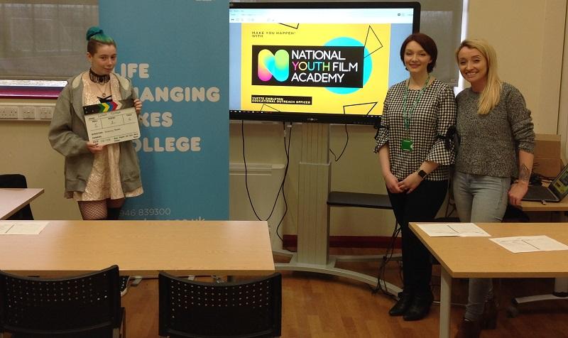 Morganna Perrett (student), Yvette Embleton (National Youth Film Academy) and Luo Kneath, Animator