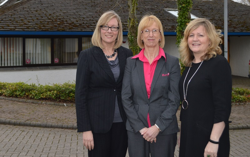 The original West Cumbria team members outside the new office. L-R: are Lynne Hall, Sue Messenger and Tracy Stainton.