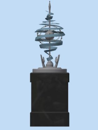 Proposed design of the monument by Steve Marshall