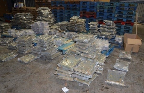 Drugs seized in the warehouse in Commercial Street, Oswaldtwistle