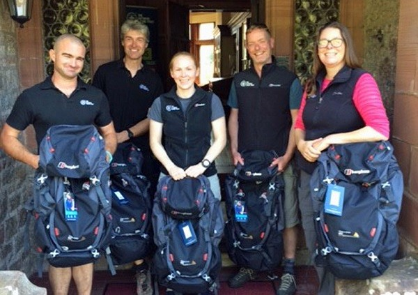 Outward Bound Trust instructors at Eskdale with Berghaus Trailhead packs