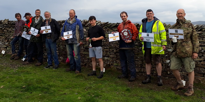 Friends of the Lake District's Walling Competition winners 2017
