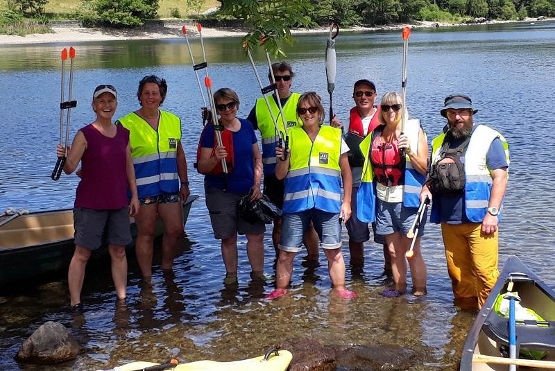 Canoe Litter Pick on Ullswater in 2018