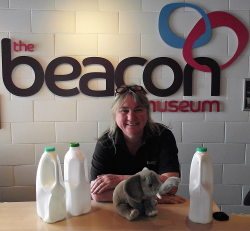 The Beacon Museum's visitor Services Manager, Pamela Telford, is ready for this weekend's recycling craft sessions