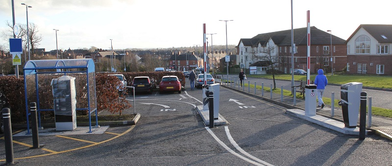 Parking barriers at Cumberland Infirmary