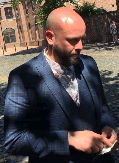 Peter Dowdall outside Carlisle Crown Court after an earlier court hearing