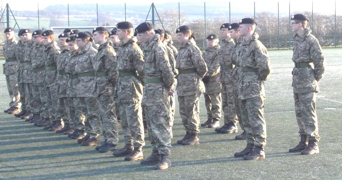 March Past at Newton Rigg College as part of the Passing Out Ceremony for Public Services students