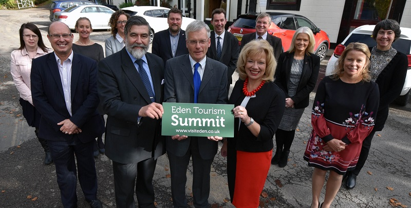 The speakers and organisers of the 2018 Eden Tourism Summit held at the Shap Wells Hotel