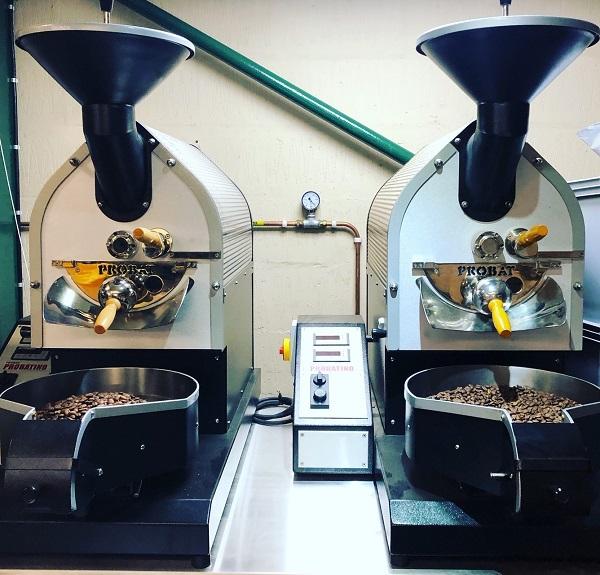 Probat test roasters at Farrer's Kendal