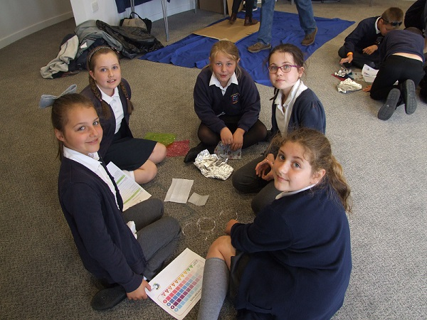 Pupils from Seascale Primary School learn all about UV rays