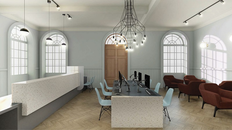 How the reconfigured council reception area could look in Kendal Town Hall, allowing easier access and improved facilities for customers.