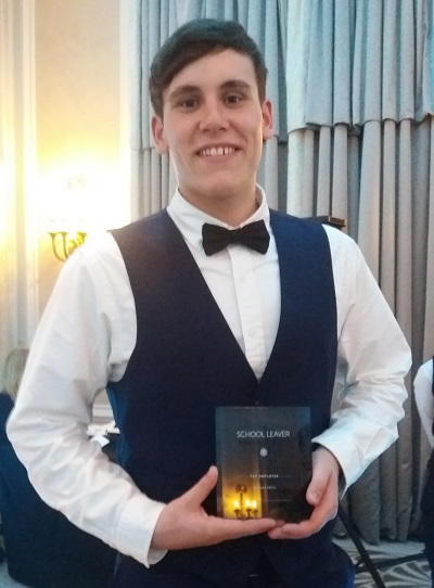 Sam Coulson from GSK Ulverston with his national School Leaver Award