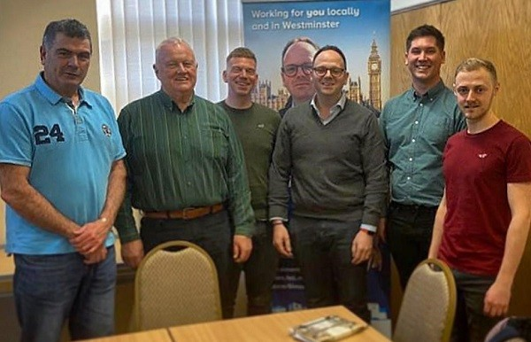 The Save our Surgery Group, L-R: Cllr Harry Barker, Cllr Mike Cumming, Cllr Daniel Edwards, Simon Fell MP, Cllr Ben Shirley, Cllr Sam Ronson. Not pictured are Mrs Janice Cumming, clerk to Askam and Ireleth Parish Council and Mr Stephen Toulmin.