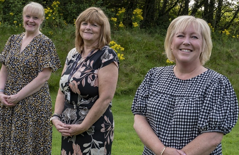 L-R: Helen Gibson, Zee Walker and Sue Hannan have recently been promoted at Furness College.