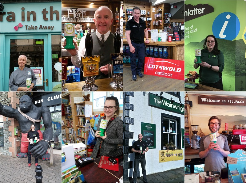 Some of the businesses supporting the Keswick to Threlkeld Railway fundraising project: Laura in the Lakes, Horse & Farrier, Cotswold, Whinlatter, Kong Adventure, Bookends, The Wainwright and Fellpack