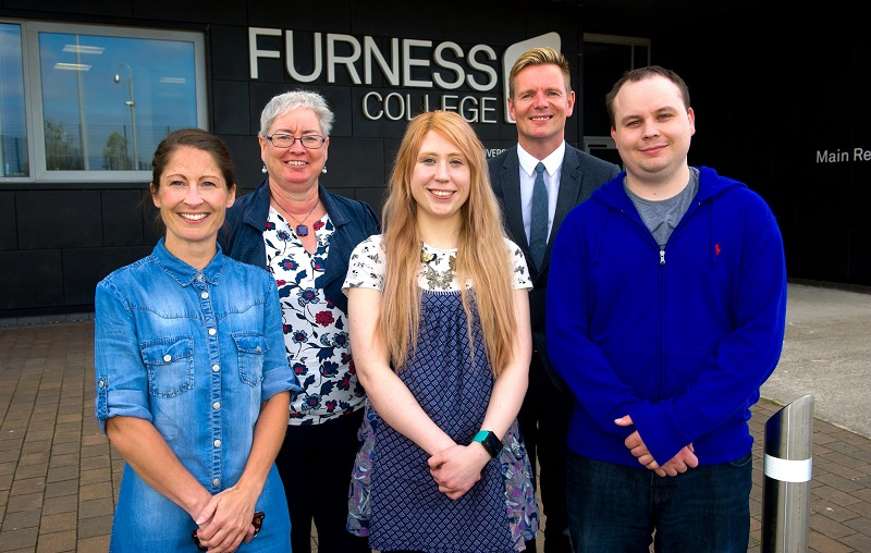 Furness College Director of Higher Education Jo Anson with Principal and Chief Executive Andrew Wren