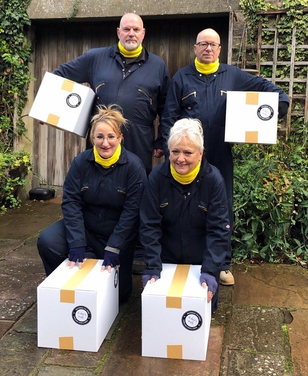 The A Day's Walk team ready for national action - back row, Colin Sneath and John Martin; front, Emma Sneath and Gillian Martin