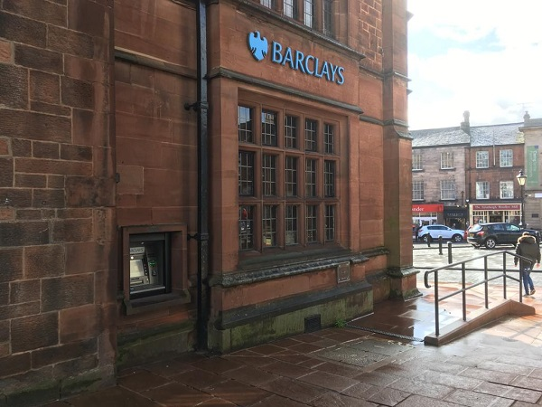 The ATM at Barclays Bank in Penrith at which the woman was robbed