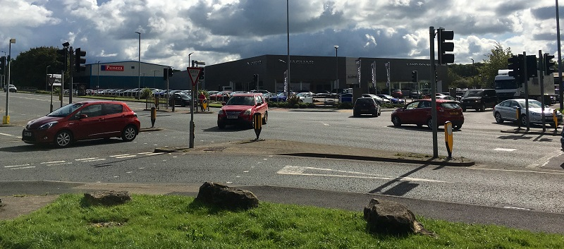 The Carlisle scene of Glenn Shields's Christmas Eve road rage row close to Junction 43 of the M6.