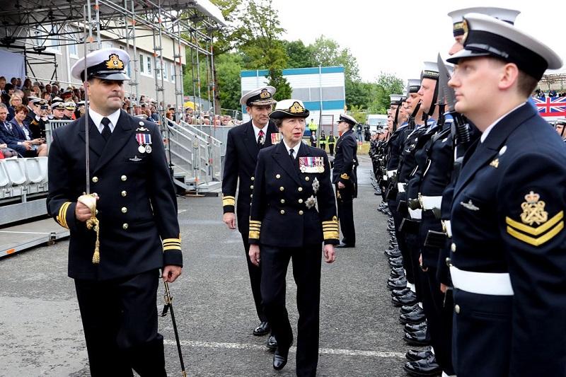 HRH The Princess Royal (Photo Royal Navy)
