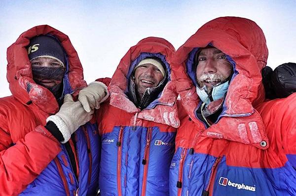 The Spectre team L-R: Jean Burgun, Mark Sedon, Leo Houlding