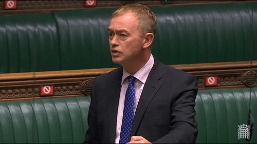 Tim Farron MP speaking in Parliament