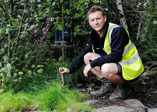 Tom Hickey, successful Yorkshire Dales Millennium Trust Apprentice 2018.