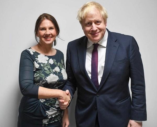 Trudy Harrison and Boris Johnson