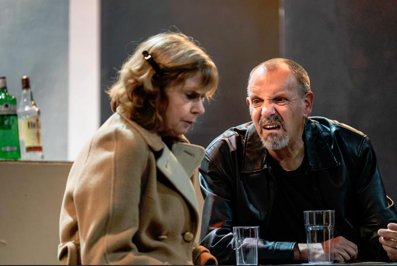 Stewart Grant (Landlord) and Joan Hetherington (Landlady) rehearsing 'Two' at the Theatre Royal (Chris Lewis Photography)