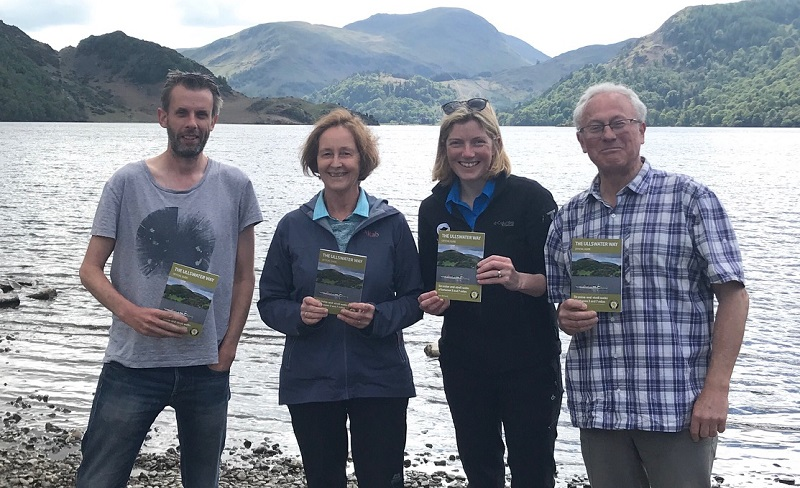 L-R: Dave Felton, Inspired by Lakeland, Anne Clarke, Friends of the Ullswater Way, Suzy Hankin, Lake District National Park Ranger and Mark Richards, Author of the Ullswater Way Guide