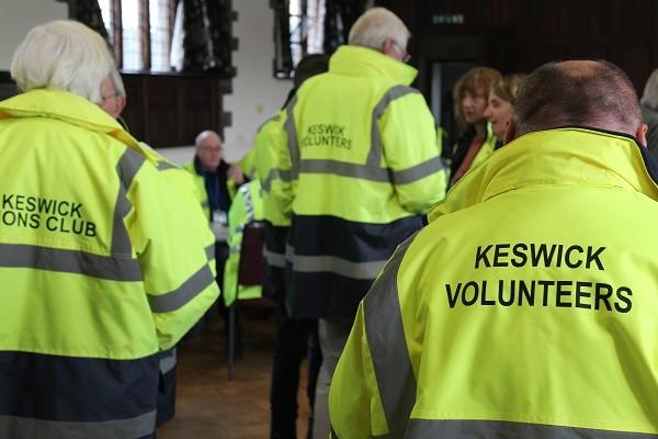 Volunteers at initial briefing