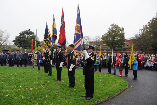 Last years' service at the Cenotaph in Workington