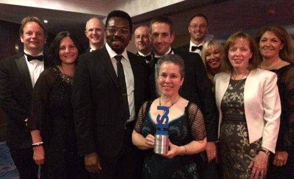Winning team at the HSJ awards