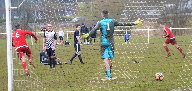 Workingron Athletic seal the win over Wigton Harriers in the Whitehaven Cup (Martin Perry)