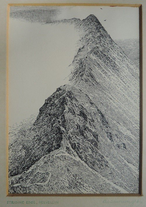 A pen and ink sketch by Alfred Wainwright made £10,200 at auction. Credit 1818 Auctioneers