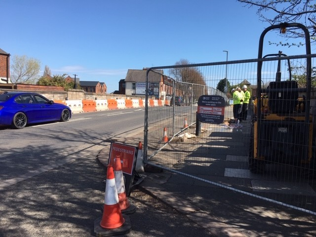 Key workers from United Utilities have been renewing the water pipes over Botcherby Bridge on Warwick Road during the quieter lock-down period.