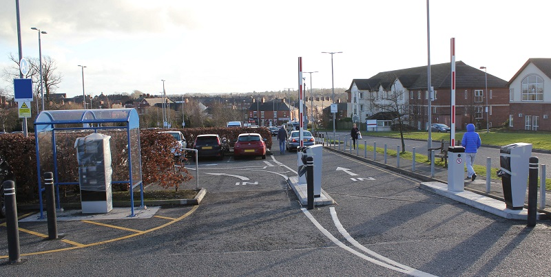 Cumberland Infirmary parking barriers