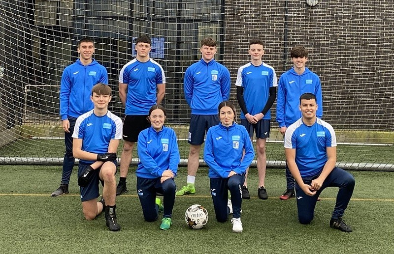 Students from the College Football Academy 2020, a partnership between Furness College and Barrow AFC