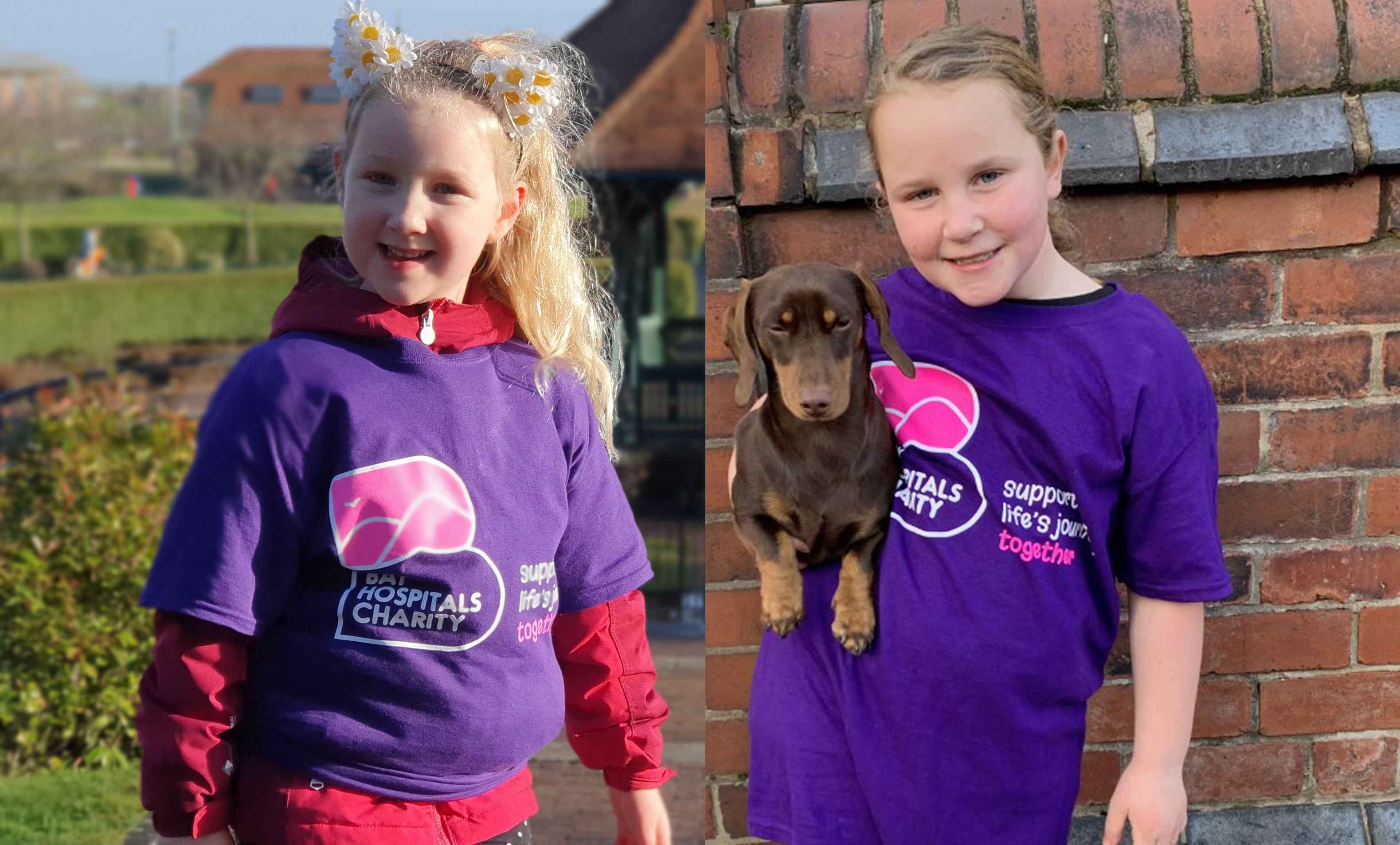 Emme-Rose and Lilli-Mae have raised money for Young Bay Hospitals Charity