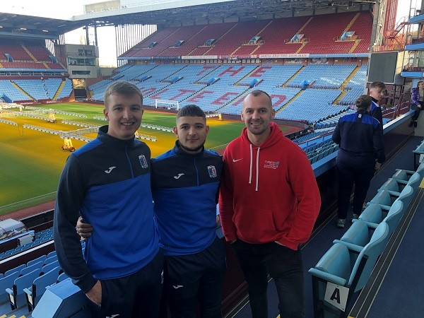 L-R: Josh Millward and Jack McKechnie have been selected as student activators for Furness College as it works towards being an FA Learning and Development Hub for football.