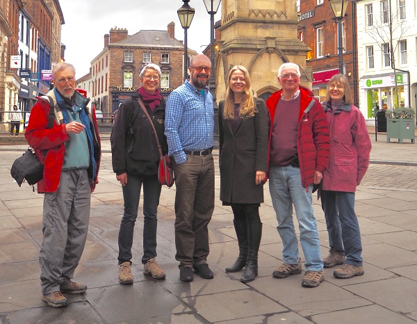 Sian Berry with Penrith Town Councillor Doug Lawson and Green Party members